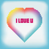 Gradient Colorful Heart Halftone Abstract Background Royalty Free Stock Photo