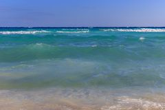Gradient colors of the Mediterranean Sea at Nissi Beach in Ayia Royalty Free Stock Photography