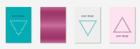 Minimalistic cover template set with gradients. Gradient cover template set. Minimal trendy layout with halftone. Futuristic gradient cover template for banner Royalty Free Stock Photography
