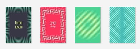 Minimalistic cover template set with gradients. Gradient cover template set. Minimal trendy layout with halftone. Futuristic gradient cover template for banner Royalty Free Stock Photo