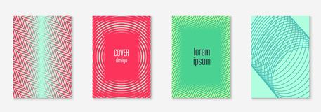 Minimalistic cover template set with gradients. Gradient cover template set. Minimal trendy layout with halftone. Futuristic gradient cover template for banner Royalty Free Stock Photos