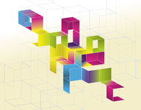 Gradient Cube Page Design Royalty Free Stock Image