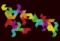 Gradient Cube Page Design Royalty Free Stock Photos