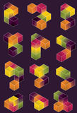 Gradient Cube Page Design Royalty Free Stock Images