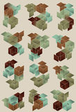 Gradient Cube Page Design Stock Photography