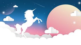 Gradient de ciel de licorne illustration libre de droits