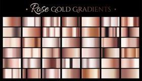 Gradient de couleur d'or de Rose illustration stock