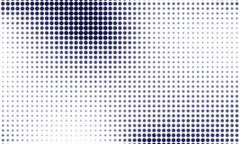 Gradient de Digital avec des points Panneau futuriste abstrait Backgound pointillé Illustration tramée monochrome de vecteur de m Photos libres de droits