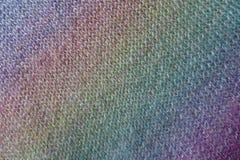 Gradient diagonal d'arc-en-ciel sur le tissu tricoté image stock