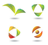Gradient eco logos. Illustration of four  gradient colorful eco logos Royalty Free Stock Image