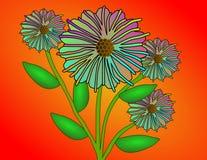 Gradient Fantasy Flowers Royalty Free Stock Photo