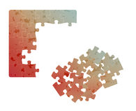 Gradient field of puzzles with spots Stock Photography