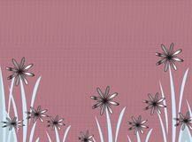 Gradient flowers. On mauve Stock Photos