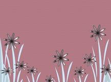 Gradient flowers. On mauve Stock Illustration