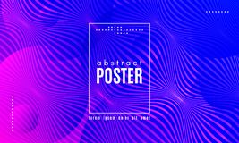 Wave Abstract Background with Color Fluid Shapes. Gradient Fluid Shapes. Abstract Background in Blue and Pink Colors. Wave Liquid and Distorted Gradient Lines stock illustration