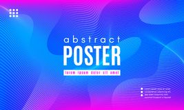 Wave Abstract Background with Color Fluid Shapes. Gradient Fluid Shapes. Abstract Background in Blue and Pink Colors. Wave Liquid and Distorted Gradient Lines vector illustration