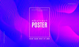 Abstract Wave Poster with Color Fluid Shapes. Gradient Fluid Shapes. Abstract Wave Poster with Movement of Liquid. Linear Gradient Background for Landing Page vector illustration