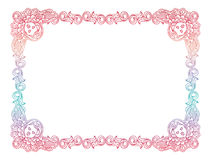 Gradient frame with angel in vintage style. Custom element for d Stock Photos