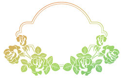 Gradient frame with roses. Raster clip art. Royalty Free Stock Photography