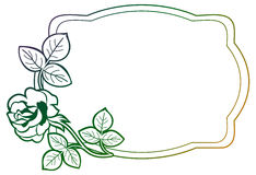 Gradient frame with roses. Raster clip art. Royalty Free Stock Images