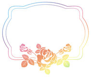 Gradient frame with roses. Raster clip art. Royalty Free Stock Photos