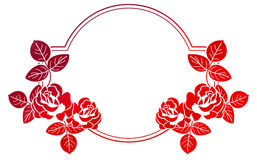 Gradient frame with roses. Raster clip art. Stock Images