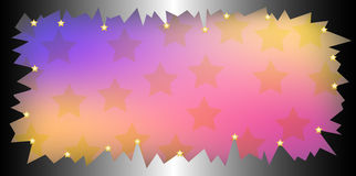 Gradient frame with stars Royalty Free Stock Photo