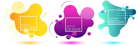 Gradient geometric banners royalty free illustration