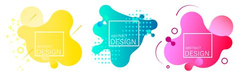 Gradient geometric banners vector illustration