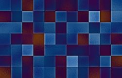 Gradient geometric square blocks. Glass texture. Abstract background royalty free stock photo