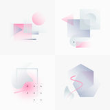 Gradient Geometry Forms 06. Gradient Geometry Forms. Abstract Poster Design. Geometric Vector Objects. Platonic Shapes And Figures. Unique Set Of Minimalist Royalty Free Stock Image