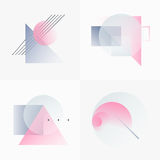 Gradient Geometry Forms 02 Stock Image