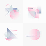Gradient Geometry Forms 08 Royalty Free Stock Photo