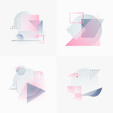 Gradient Geometry Forms 01 Stock Photos