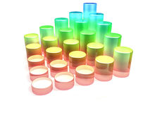 Gradient graphics tubes Royalty Free Stock Image