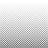Gradient halfton horizontal seamless pattern. Vector dots background. Stock Photography