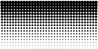 Gradient halftone dots background, horizontal template using halftone dots pattern. Vector illustration. Vertical gradient halftone dots background, horizontal Royalty Free Stock Photography