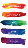 Gradient hand painted brush strokes isolated on Royalty Free Stock Images