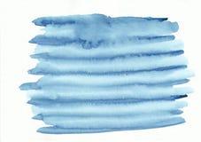 Gradient horizontal rayé bleu-clair d'aquarelle tiré par la main images libres de droits