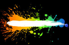 Gradient ink splashes Stock Photo