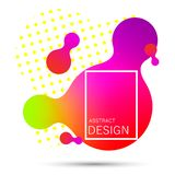 Gradient liquide abstrait de forme illustration stock
