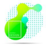 Gradient liquide abstrait de forme illustration libre de droits