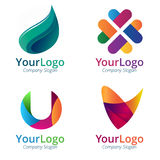 Gradient logo. Colorful vector shape suitable for logo, icon and button Royalty Free Stock Photography