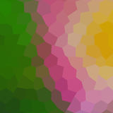 Gradient low poly hexagon style vector mosaic. Background Stock Images