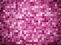 Gradient magenta colored mosaic tiles Stock Image