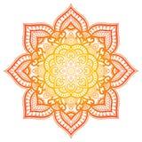 Gradient mandala. Circle ethnic ornament. Hand drawn traditional indian round element. Spiritual meditation yoga henna royalty free stock photography