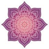 Gradient mandala. Circle ethnic ornament. Hand drawn traditional indian round element. Spiritual meditation yoga henna royalty free stock photo