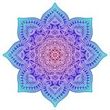 Gradient mandala. Circle ethnic ornament. Hand drawn traditional indian round element. Spiritual meditation yoga henna stock photos