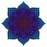 Gradient mandala. Circle ethnic ornament. Hand drawn traditional indian round element. Spiritual meditation yoga henna stock photo