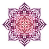 Gradient mandala. Circle ethnic ornament. Hand drawn traditional indian round element. Spiritual meditation yoga henna stock images